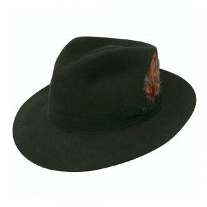 stetson chatham fedora black