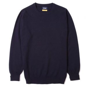 drakes-crew-neck-sweater-navy