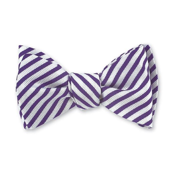 Sherman Stripes Bow Tie Purple