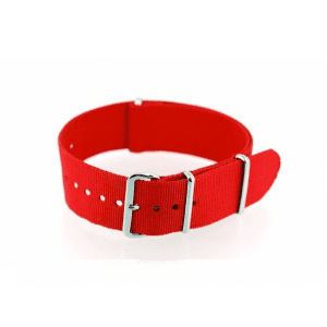 Red Grosgrain Watchband