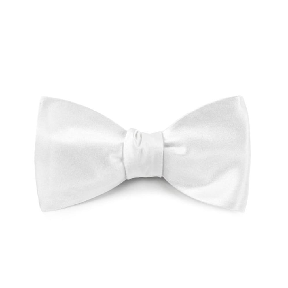 Satin White Bow Tie