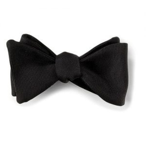 Bow Tie Black Silk Faille