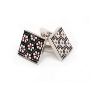 Cuff Links Square Flower