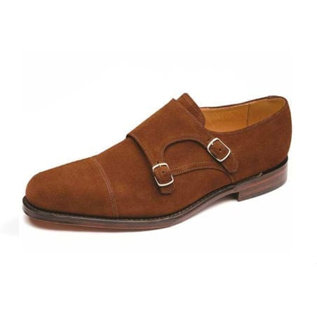 Suede Monk Strap Shoe