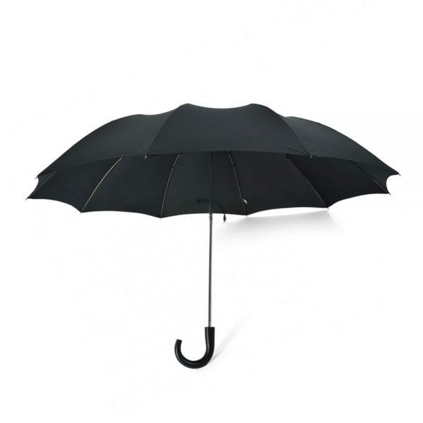 Telescopic Maple Crook Umbrella Black