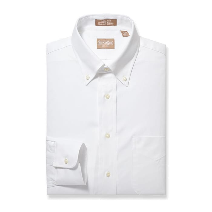 Button Down Pinpoint White