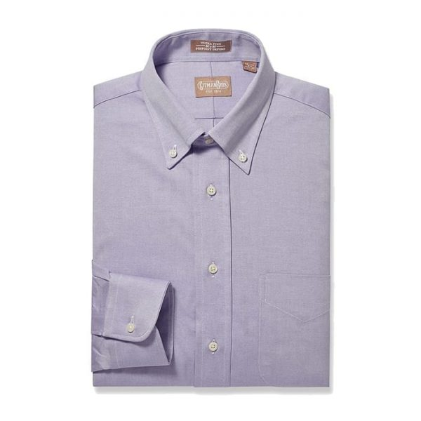 Button Down Pinpoint Lavender