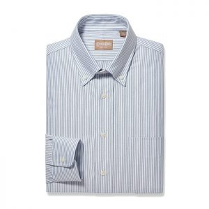 Button Down Oxford Blue Stripe