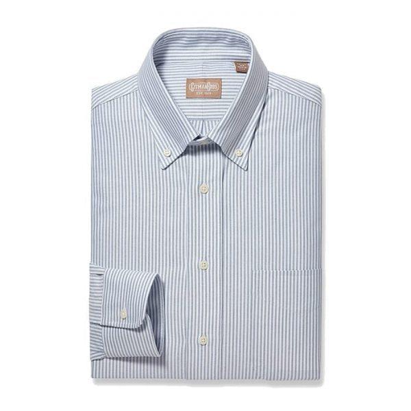 Button Down Oxford Blue Stripe