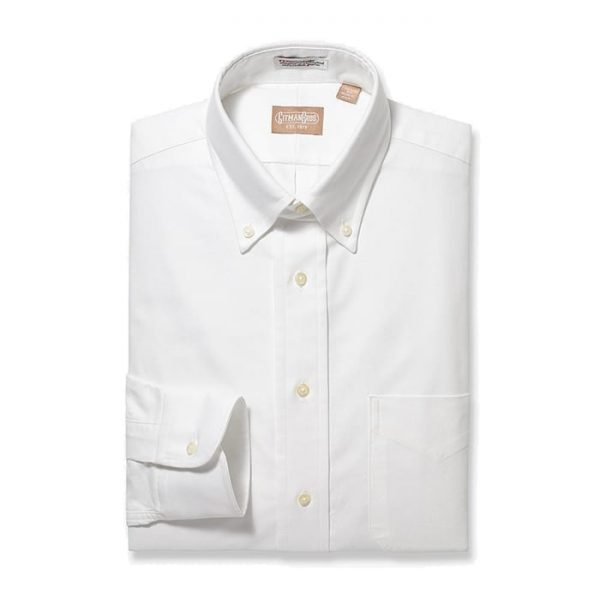 Button Down Oxford White