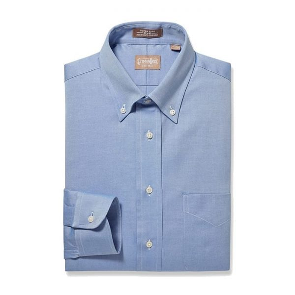Button Down Pinpoint Blue