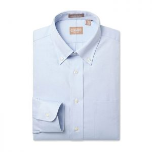 Button Down Pinpoint Light Blue