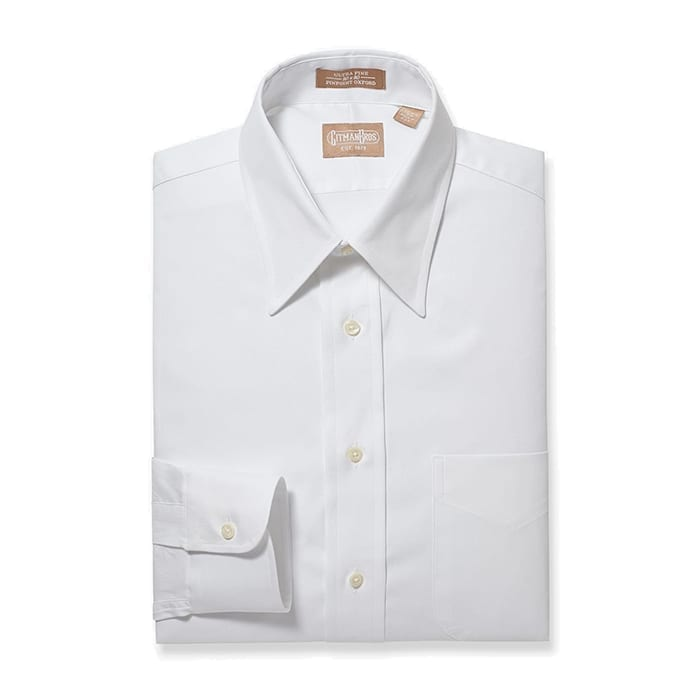 Point Collar Pinpoint White