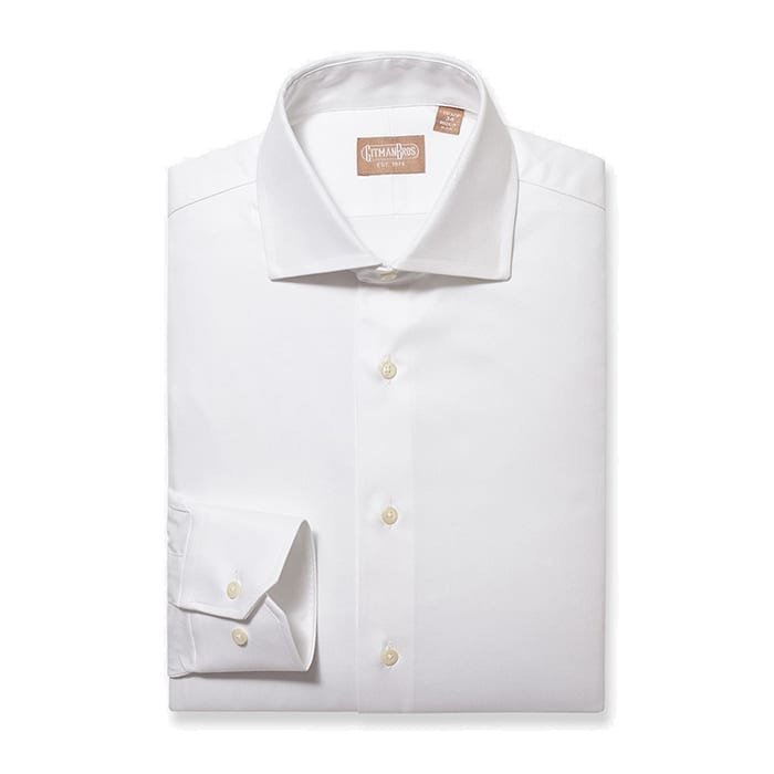 Tailored Fit Pinpoint White