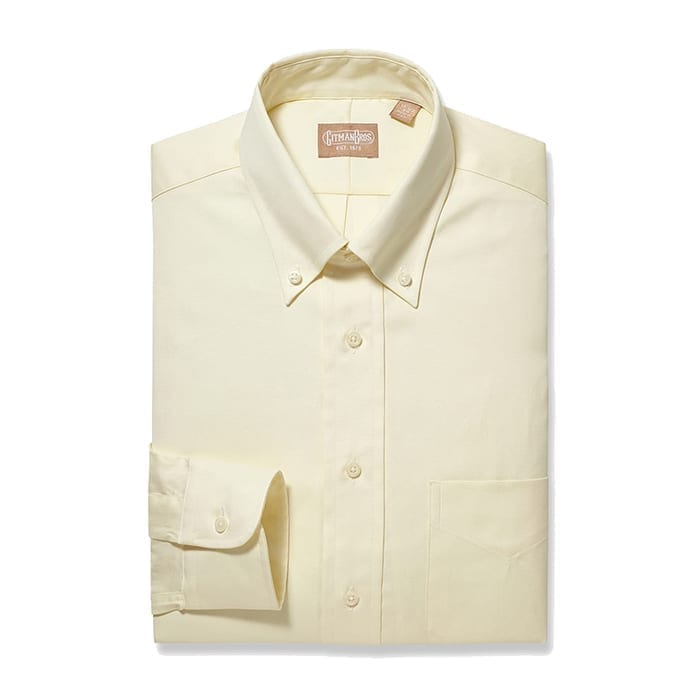 Button Down Pinpoint Yellow