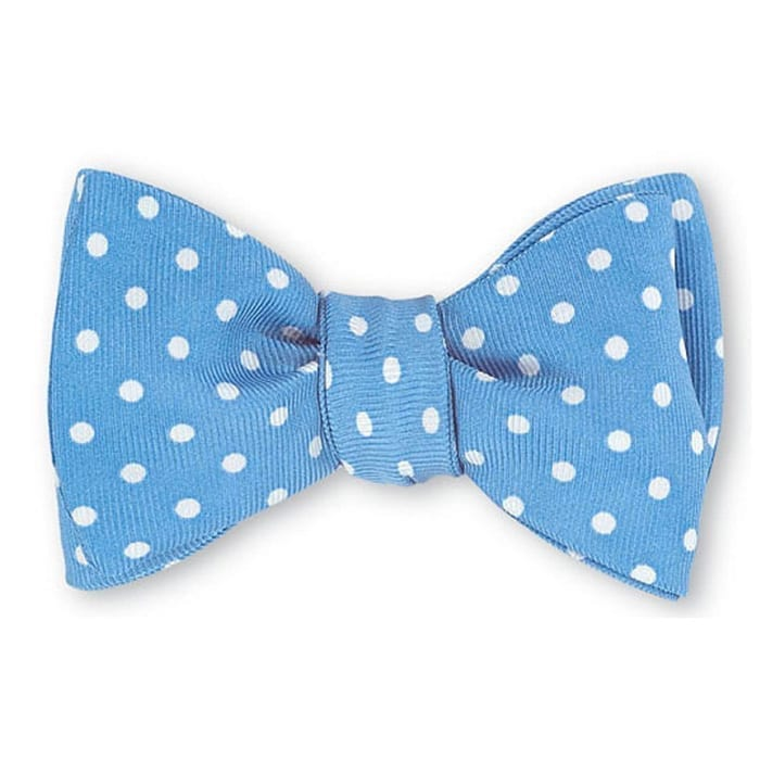Windsor Dots Blue Bow Tie