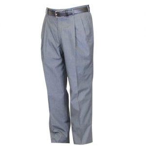 Poplin Double Pleated Trousers