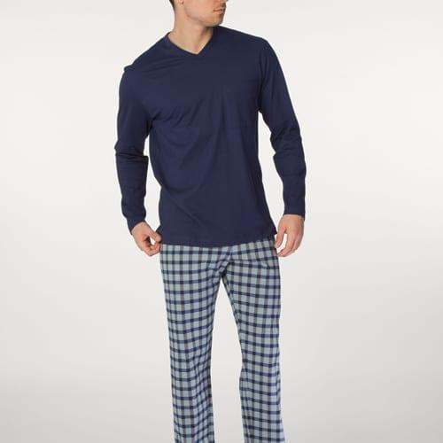 Plaid Pant Length Pajama