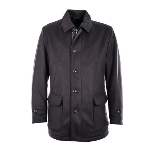 Wool Cashmere Coat With Gore-Tex