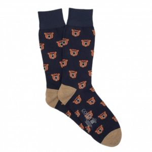 Lightweight Angry Bear Patterned Socks