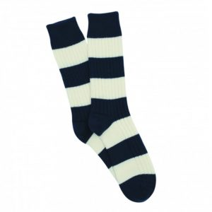 Rugby Stripe Wool and Cotton Sock
