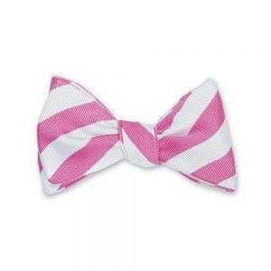 White Bar Stripes Bow Tie Layer 4