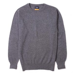 drakes-crew-neck-sweater-grey
