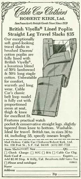 Our History - Cable Car Clothiers
