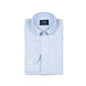 Drakes Blue Stripe Oxford BD Shirt