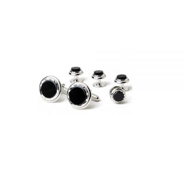 Onyx Etched Formal Set Silver