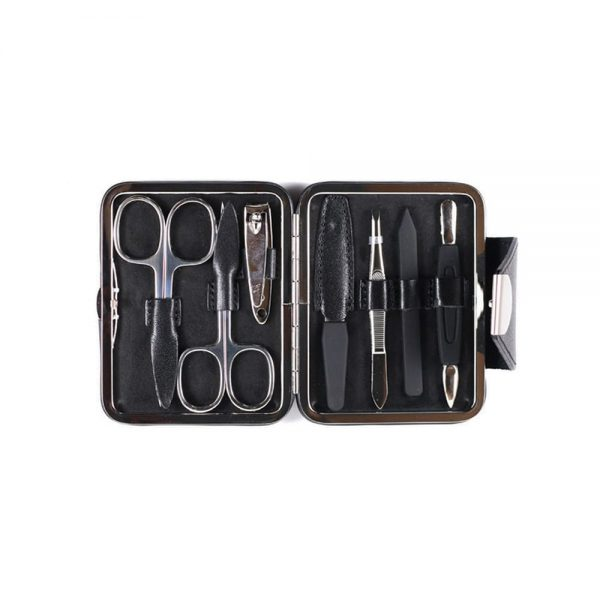 leather grooming set