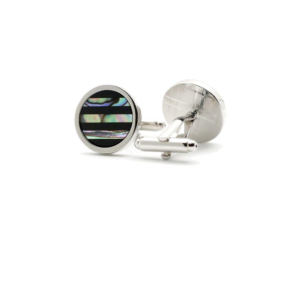 Collar Company Abalone Stripe Cufflinks