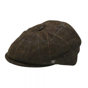 HH Wool Tweed Driving Cap brown