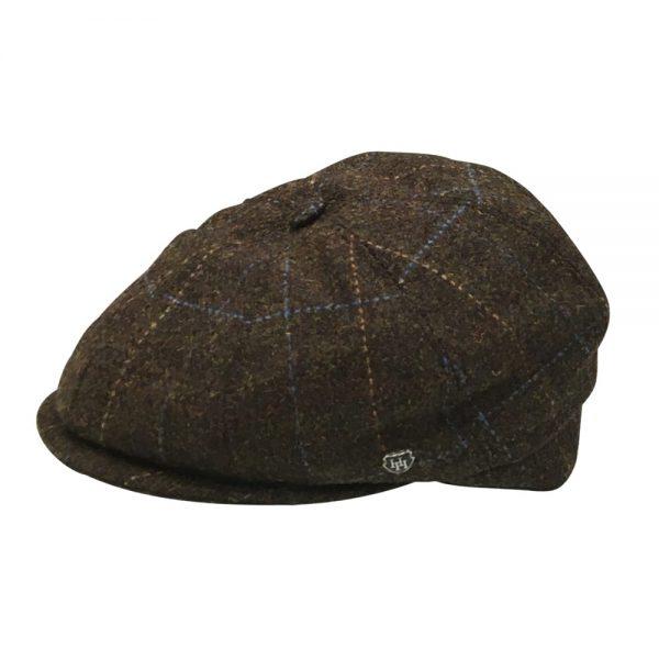HH Wool Tweed Driving Cap brown