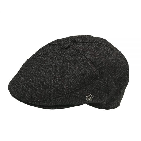 Tweed 7 Piece Cap Charcoal