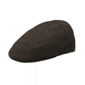 Stefano Herringbone Ivy Cap Brown