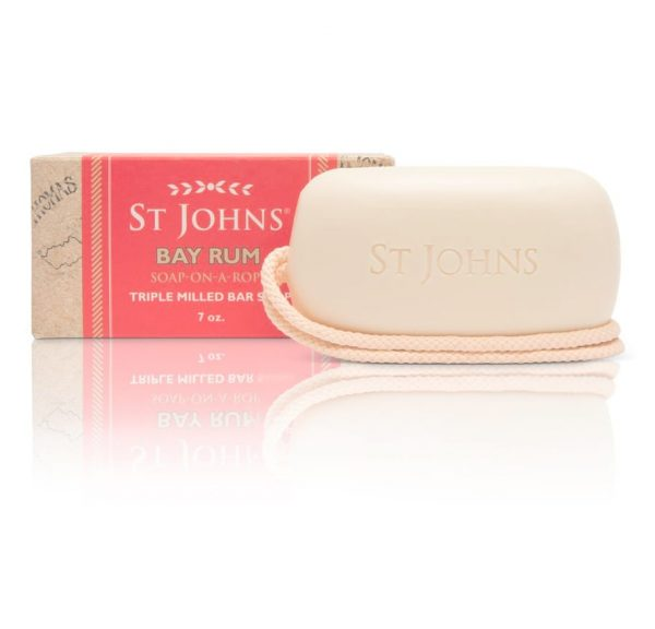 St John Bay Rum soap rope