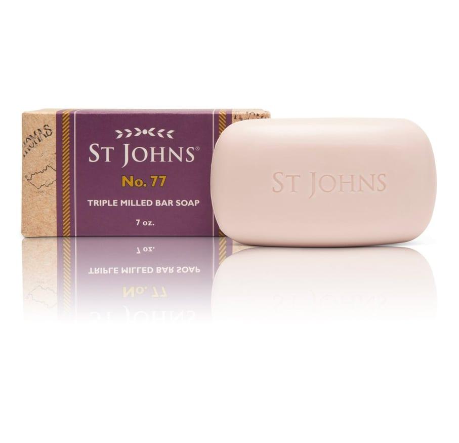 St John No77 soap