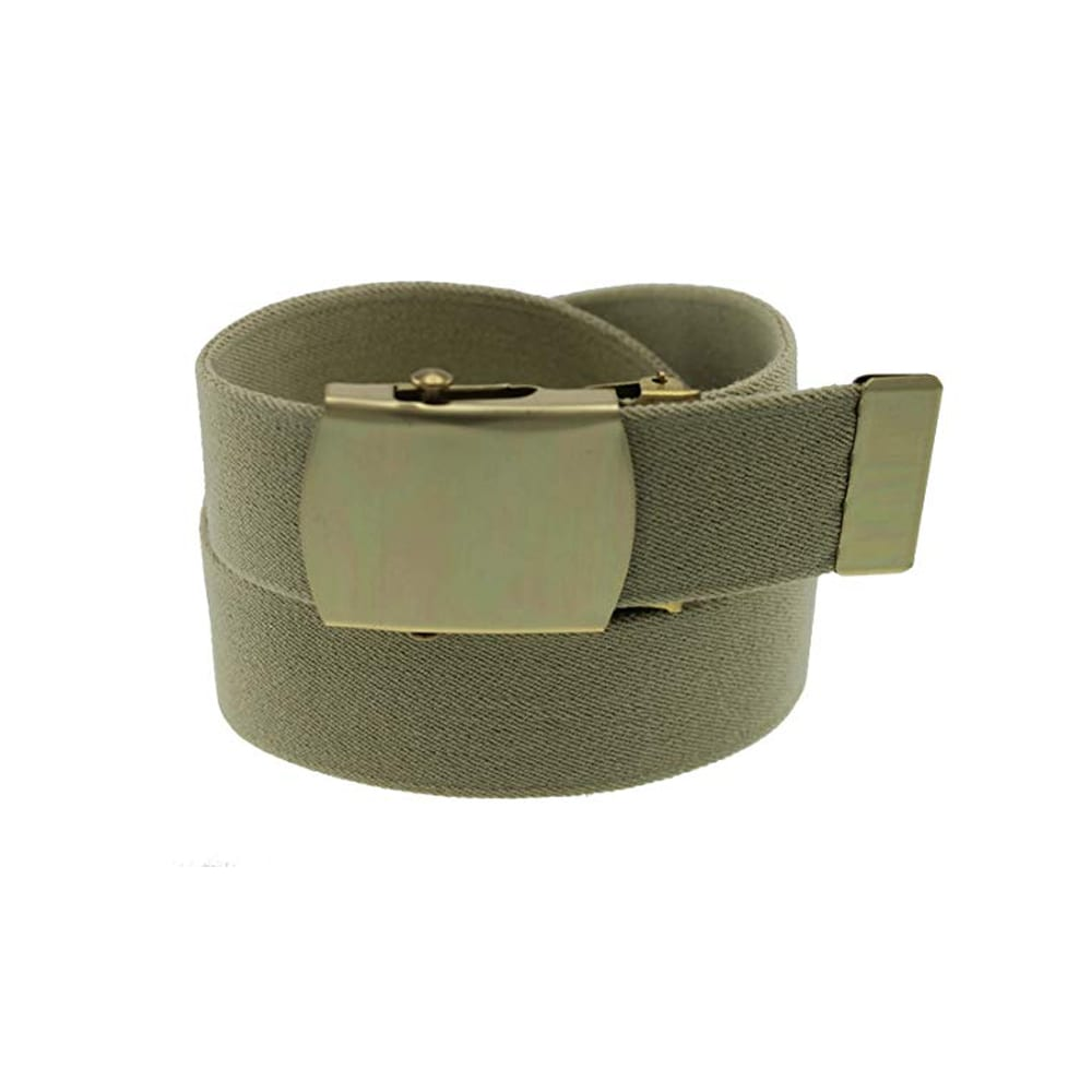 belts Military Buckle Khaki