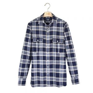 Drake's Flannel Two-Pocket Work Shirt