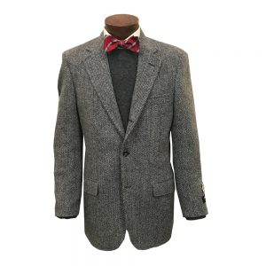 Harris Tweed Black White Sport Coat