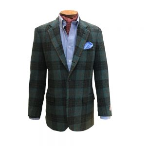 Harris Tweed Green Plaid Sport Coat