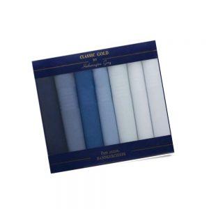 blue 7 pack handkerchiefs