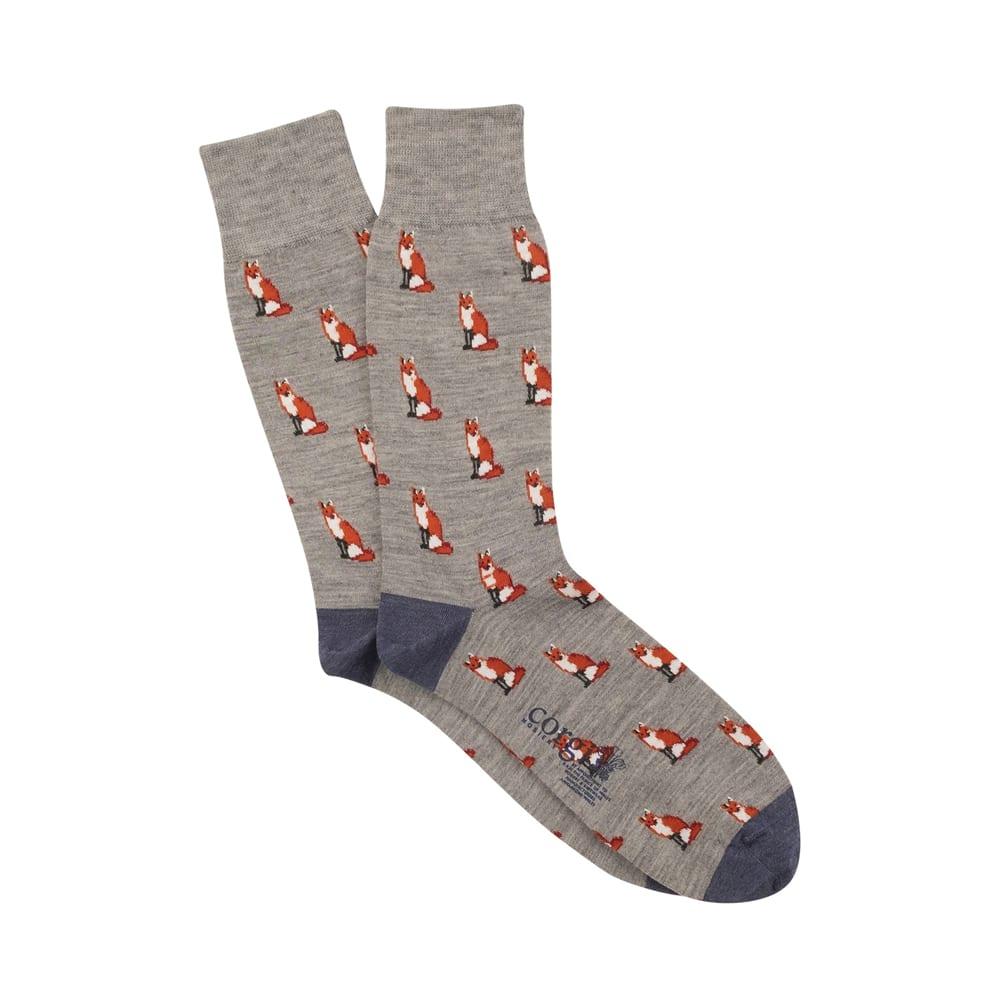 Corgi Fox Grey Socks
