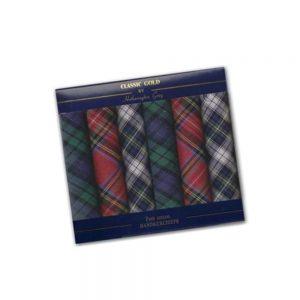tartan 7 pack handkerchiefs