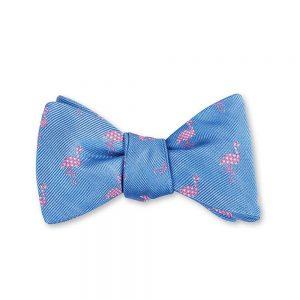 Flamingo Bow Tie Blue