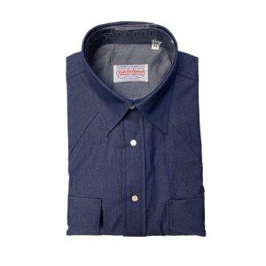 Gitman Washed Denim Western Shirt Indigo