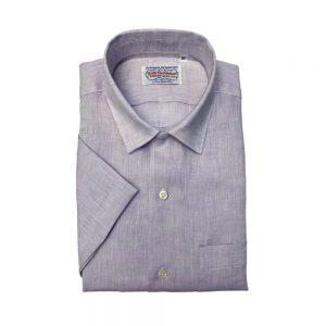 Gitman Short Sleeve Linen Camp Shirt Lavendar