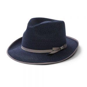 Stetson Stratoliner Straw Hat navy