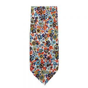 Blue Floral Neck Tie